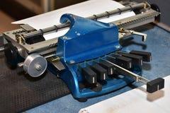 Schrijfmachinemachine stock foto
