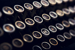 Schrijfmachinetoetsenbord royalty-vrije stock afbeelding