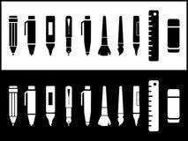 Schrijvend geplaatste pictogrammen Royalty-vrije Stock Afbeeldingen