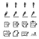 Schrijvend pictogram Stock Fotografie