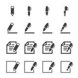 Schrijvend pictogram Stock Afbeeldingen