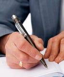 Schrijvende Hand. Stock Foto