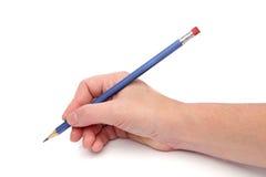 Schrijvende hand Royalty-vrije Stock Foto's