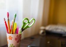 Schrijvende hulpmiddelen Stock Foto