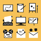 Schrijvende pictogrammen royalty-vrije illustratie