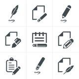 Schrijvende pictogrammen Stock Afbeelding