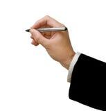 Schrijver met pen stock afbeeldingen