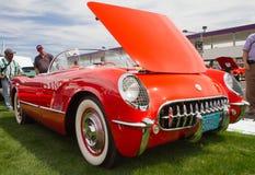 Schrijver uit de klassieke oudheid 1955 Chevy Corvette Automobile Stock Afbeelding