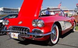 Schrijver uit de klassieke oudheid 1960 Chevy Corvette Automobile Royalty-vrije Stock Foto's