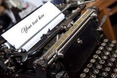 Schrijvers` s schrijfmachine Stock Afbeelding