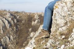 Schritt auf Felsen Lizenzfreie Stockbilder