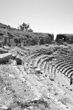 Schritt des alten griechischen Amphitheaters Lizenzfreies Stockfoto