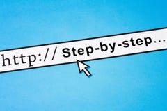 Schritt für Schritt Stockfotografie