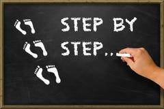 Schritt für Schritt Lizenzfreies Stockbild