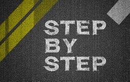 Schritt für Schritt Stockfoto