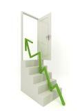 Schritt für Schritt zur offenen Tür Lizenzfreies Stockfoto
