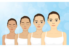 Schritt-Haut-Weiß werden-Frauen Stockbild