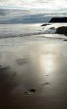 Schritt im Sand Stockfotografie