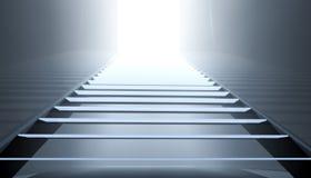 Schritte in das Licht Lizenzfreies Stockbild
