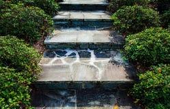 Schritte des Felsens Stockbild