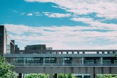 Schritte des unterrichtenden Gebäudes stockfoto