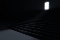 Schritte, die führen, um zu beleuchten Stockbild