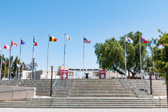 Schritte, die zu Hof des olympischen Schulungszentrums führen Stockbilder