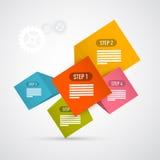 Schritte für Tutorium, Infographics Stockfoto