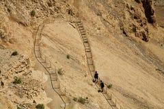 Schritte Masada Stockfotografie