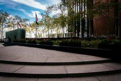 Schritte und Gärten am Veteranen-Denkmal Plaz New York Vietnam Stockbilder
