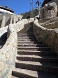 Schritte von La Quebrada Stockfoto