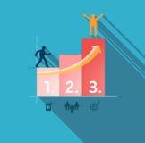 Schritte zum Erfolg. Infographic-Illustration Lizenzfreies Stockbild