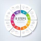 Schritte zum Erfolg - Zeitachse, Infographics lizenzfreie abbildung