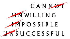 Schritte zum Erfolgstext Stockbild