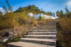 Schritte zum Gipfel Stockbild