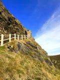 Schritte zum Schloss Stockbild