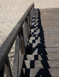 Schritte zum Strand Stockbilder