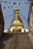 Schritte zum Swayambhunath Tempel in Katmandu, Nepal Stockfotografie