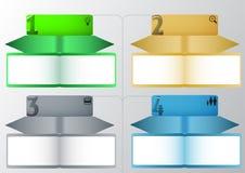 Schrittweise Papierschablone für Website Lizenzfreie Stockbilder