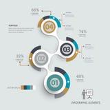 Schrittweise Schablone Infographic kann für Arbeitsflussplan verwendet werden, Lizenzfreie Abbildung