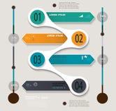 Schrittweise Schablone Infographic kann für verwendet werden Lizenzfreies Stockbild