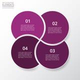 Schrittweises infographic Stockfotos
