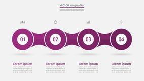 Schrittweises infographic Stockbilder