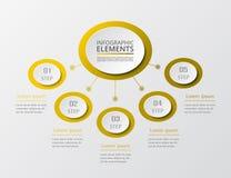Schrittweises infographic Lizenzfreie Stockfotografie