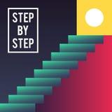 Schrittweises Konzept Lizenzfreie Stockfotos