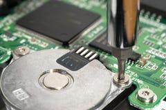 Schroef een elektrische motor Stock Afbeeldingen