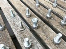 Schroef van het contactdoos de Hoofdglb Roestvrije staal stock fotografie