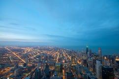 Schroeit de Mening Chicago van de Toren stock afbeeldingen