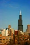 Schroeit toren van het oosten op blauw Stock Foto's