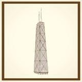 Schroeit torenprentbriefkaar Royalty-vrije Stock Afbeelding
